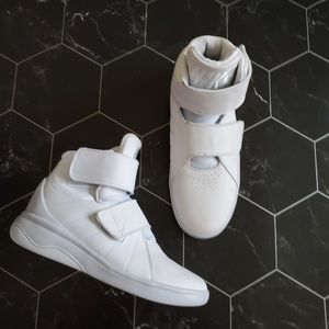 Nike Kids Off White Laceless High Top Sneakers